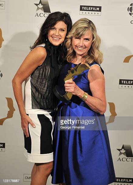 Actress Wendy Crewson and winner of the Academy Achievement award Chair/CEO of Shaftesbury Christina Jennings attend the 26th Annual Gemini Awards -...