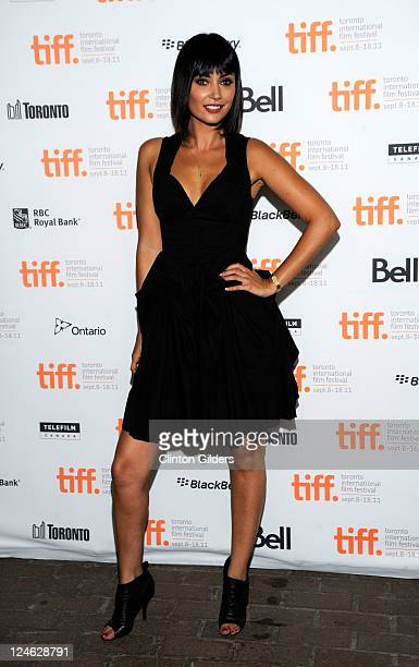 Actress Wendy Glenn arrives at You're Next Premiere at Ryerson Theatre during the 2011 Toronto International Film Festival on September 10 2011 in...
