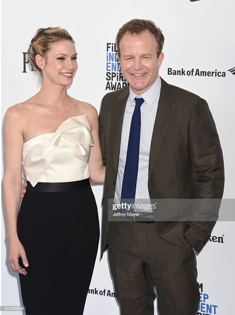 Actress Wendy Merry (L) and director Tom McCarthy arrive at the 2016 Film Independent Spirit Awards on February 27, 2016 in Santa Monica, California.