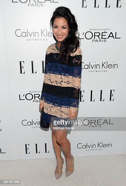Actress Wendy Nguyen arrives at ELLE's 19th Annual Women In Hollywood Celebration at the Four Seasons Hotel on October 15 2012 in Beverly Hills...