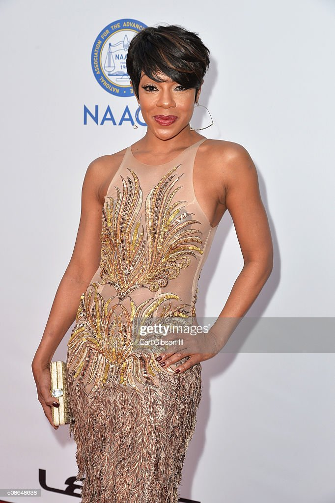 Actress Wendy Raquel attends the 47th NAACP Image Awards presented by TV One at Pasadena Civic Auditorium on February 5, 2016 in Pasadena, California.