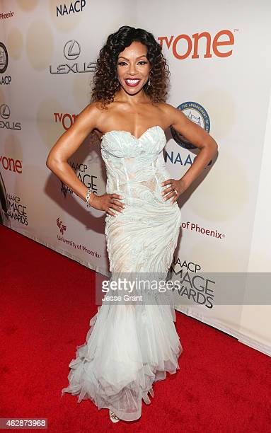 Actress Wendy Raquel Robinson attends the 46th NAACP Image Awards presented by TV One at Pasadena Civic Auditorium on February 6 2015 in Pasadena...