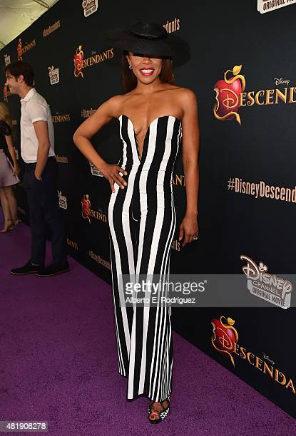 Actress Wendy Raquel Robinson attends the premiere of Disney Channel's 'Descendants' at Walt Disney Studios on July 24 2015 in Burbank California