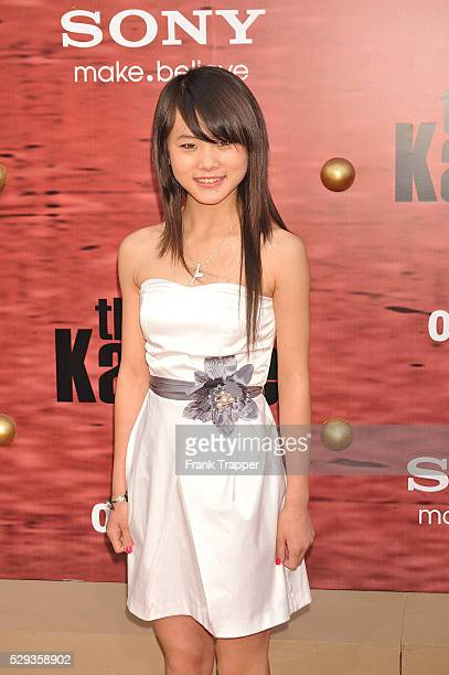 Actress Wenwen Han arrives at the premiere of The Karate Kid held at Mann's Village Theater in Westwood