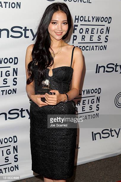 Actress Wenwen Han attends the WGC Hosts Party With InStyle HFPA To Celebrate TIFF at the Windsor Arms Hotel on September 11 2012 in Toronto Canada