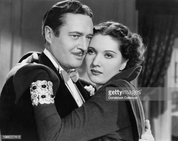 Actress Wera Engels and Edmund Lowe in a scene from the movie The Great Impersonation
