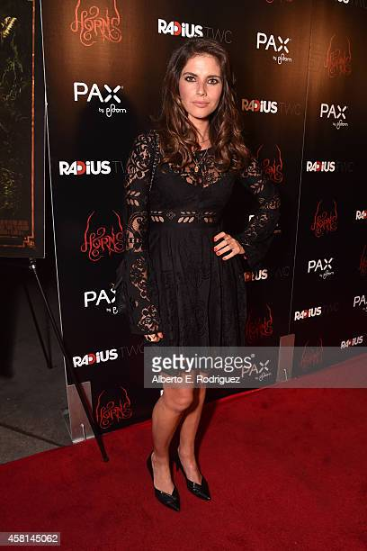 Actress Weronika Rosati arrives for the Los Angeles premiere of RADiUSTWC's Horns at ArcLight Hollywood on October 30 2014 in Hollywood California