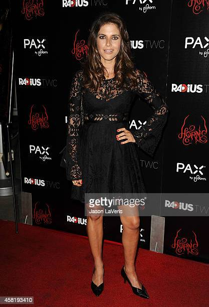 Actress Weronika Rosati attends the premiere of Horns at ArcLight Hollywood on October 30 2014 in Hollywood California