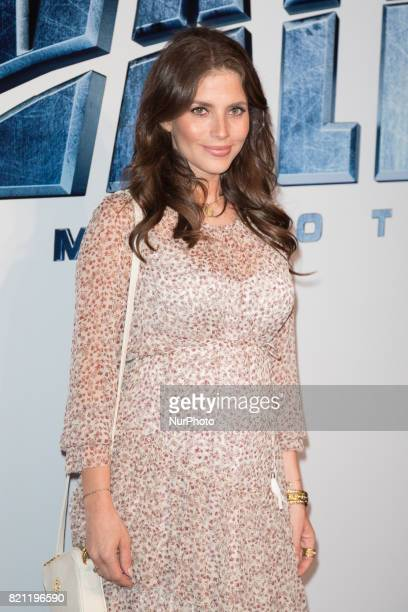 Actress Weronika Rosati during the 'Valerian and the City of a Thousand Planets' movie premiere at Multikino Zlote Tarasy cinema in Warsaw Poland on...