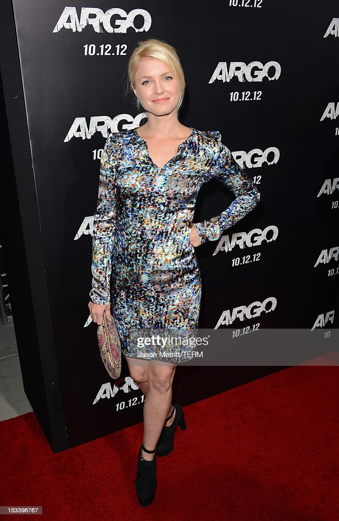 Actress Whitney Able arrives at the premiere of Warner Bros. Pictures' 'Argo' at AMPAS Samuel Goldwyn Theater on October 4, 2012 in Beverly Hills, California.