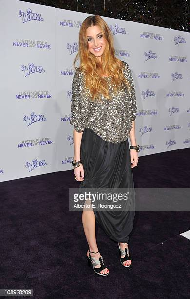 Actress Whitney Port arrives at the premiere of Paramount Pictures' Justin Bieber Never Say Never held at Nokia Theater LA Live on February 8 2011 in...