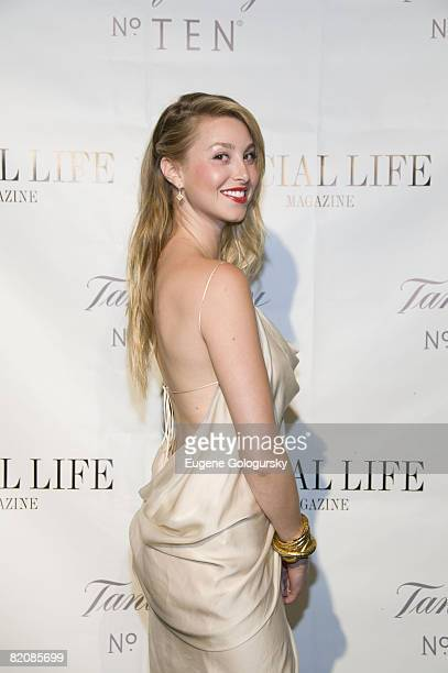 Actress Whitney Port attends The Social Life Magazine June Release Hosted By Whitney Port By SARAR And Peroni May 24 2008 in Water Mill New York