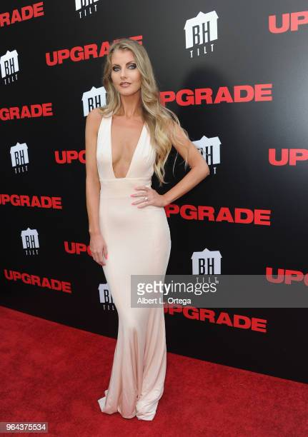 Actress Whitney Sullivan arrives for the Premiere Of BH Tilt's Upgrade held at the Egyptian Theatre on May 30 2018 in Hollywood California