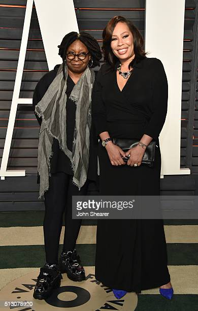 Actress Whoopi Goldberg and Alex Martin arrive at the 2016 Vanity Fair Oscar Party Hosted By Graydon Carter at Wallis Annenberg Center for the...