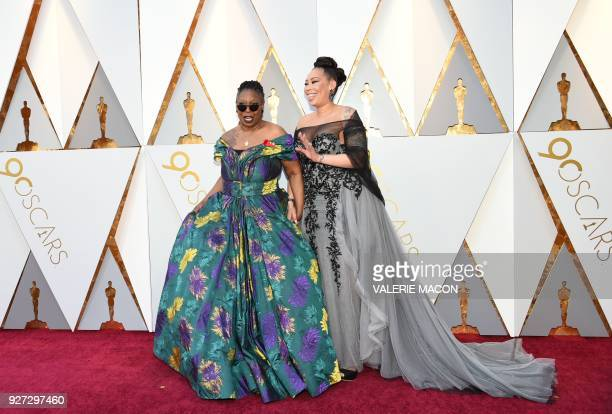 US actress Whoopi Goldberg and Alex Martin arrive for the 90th Annual Academy Awards on March 4 in Hollywood California / AFP PHOTO / VALERIE MACON