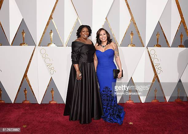 Actress Whoopi Goldberg and Alex Martin attend the 88th Annual Academy Awards at Hollywood Highland Center on February 28 2016 in Hollywood California