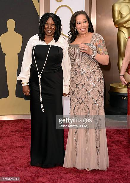 Actress Whoopi Goldberg and Alex Martin attend the Oscars held at Hollywood Highland Center on March 2 2014 in Hollywood California