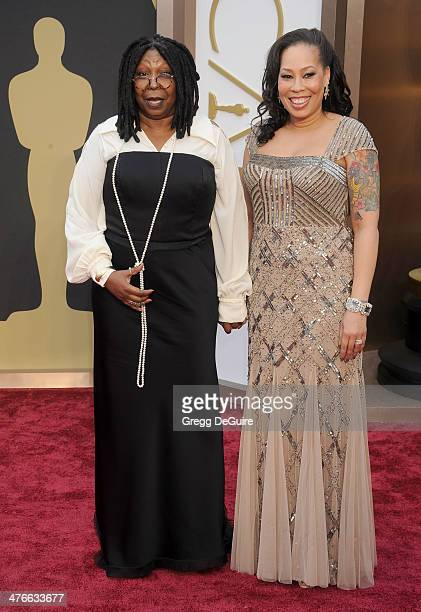 Actress Whoopi Goldberg and daughter Alex Martin arrive at the 86th Annual Academy Awards at Hollywood Highland Center on March 2 2014 in Hollywood...