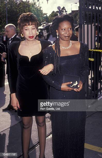 Actress Whoopi Goldberg and daughter Alexandra Martin attend 63rd Annual Academy Awards on March 25 1991 at the Shrine Auditorium in Los Angeles...