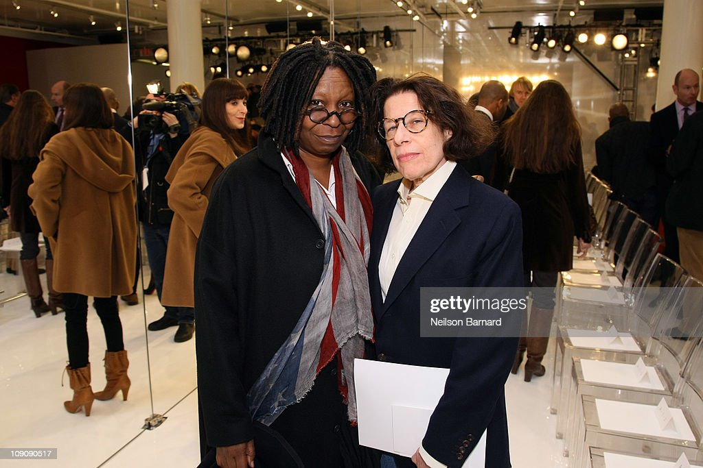 Actress Whoopi Goldberg (L) and Fran Lebowitz attend the Chado Ralph Rucci Fall 2011 fashion show during Mercedes-Benz Fashion Week at 536 broadway on February 14, 2011 in New York City.