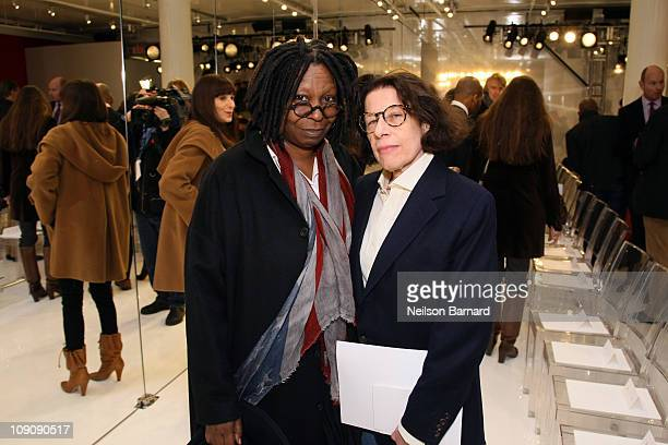 Actress Whoopi Goldberg and Fran Lebowitz attend the Chado Ralph Rucci Fall 2011 fashion show during MercedesBenz Fashion Week at 536 broadway on...