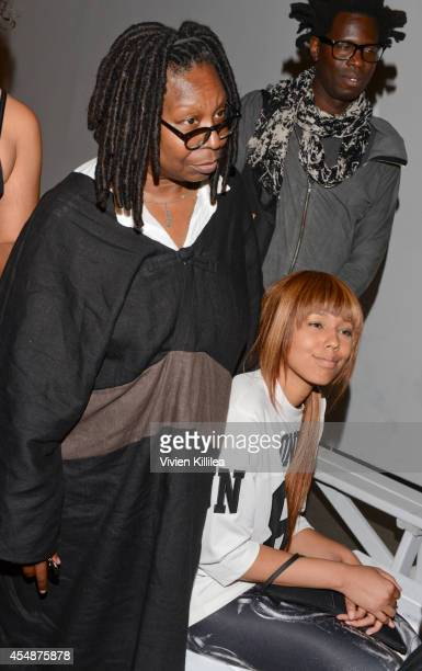 Actress Whoopi Goldberg and Jerzey Dean attend the Tracy Reese fashion show during MercedesBenz Fashion Week Spring 2015 at Art Beam on September 7...