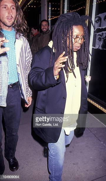 Actress Whoopi Goldberg and Lyle Trachtenberg attend the opening of Death And The Maiden on February 26 1992 at the Brooks Atkinson Theater in New...