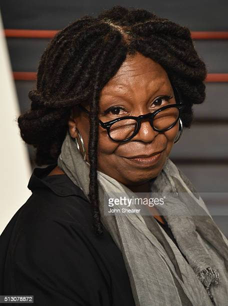 Actress Whoopi Goldberg arrives at the 2016 Vanity Fair Oscar Party Hosted By Graydon Carter at Wallis Annenberg Center for the Performing Arts on...