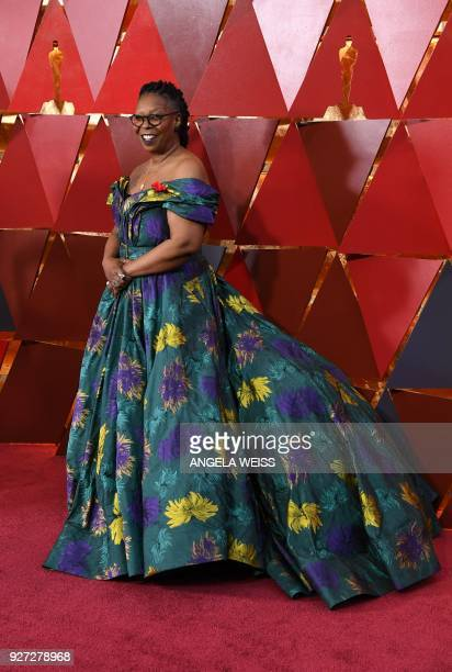 US actress Whoopi Goldberg arrives for the 90th Annual Academy Awards on March 4 in Hollywood California / AFP PHOTO / ANGELA WEISS