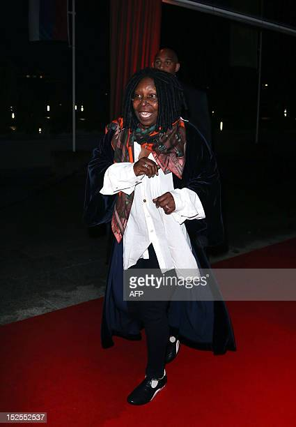 US actress Whoopi Goldberg arrives to attend the inauguration ceremony of the Cite du cinema a film studios complex heralded as Hollywood à la...