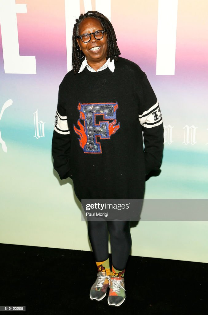 Actress Whoopi Goldberg attends the Fenty Puma by Rihanna show during New York Fashion Week at the 69th Regiment Armory on September 10, 2017 in New York City.