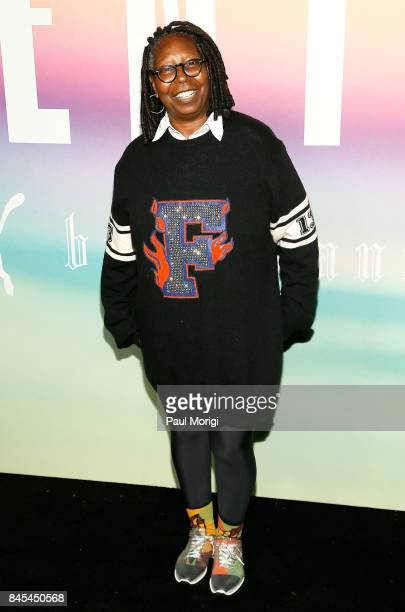 Actress Whoopi Goldberg attends the Fenty Puma by Rihanna show during New York Fashion Week at the 69th Regiment Armory on September 10 2017 in New...