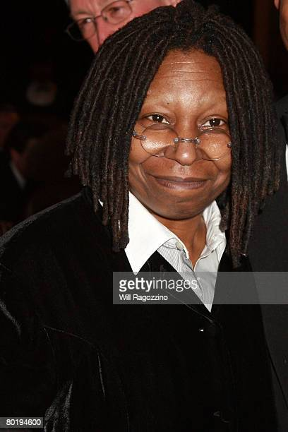 Actress Whoopi Goldberg attends the presentation of the 2008 Sir John Gielgud Award to Patrick Stewart at The National Arts Club March 10, 2008 in...
