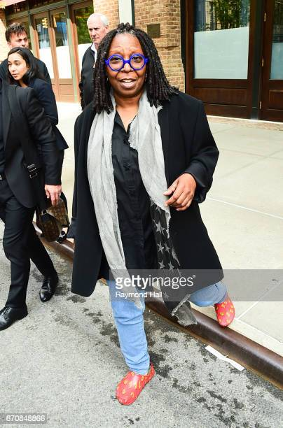 Actress Whoopi Goldberg is seen walking in Soho on April 20 2017 in New York City