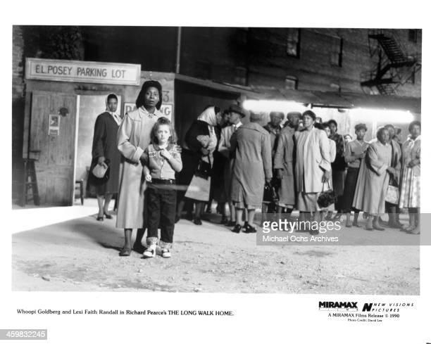 Actress Whoopi Goldberg Lexi Randall on set of the movie The Long Walk Home circa 1990