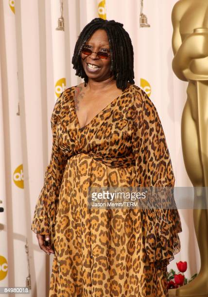 Actress Whoopi Goldberg presenter poses in the press room at the 81st Annual Academy Awards held at Kodak Theatre on February 22 2009 in Los Angeles...
