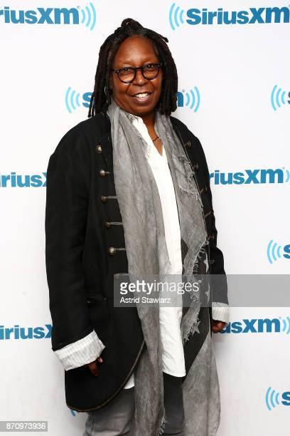 Actress Whoopi Goldberg visits the SiriusXM Studios on November 6 2017 in New York City