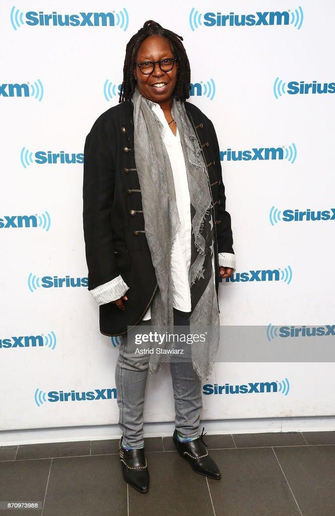 Actress Whoopi Goldberg visits the SiriusXM Studios on November 6, 2017 in New York City.