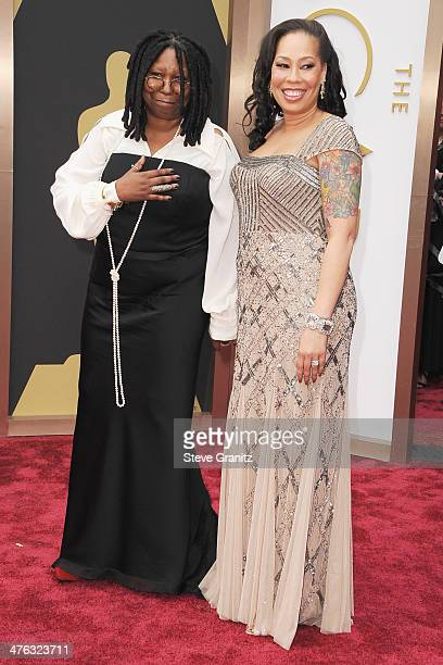 Actress Whoppi Goldberg and Alex Martin attend the Oscars held at Hollywood Highland Center on March 2 2014 in Hollywood California