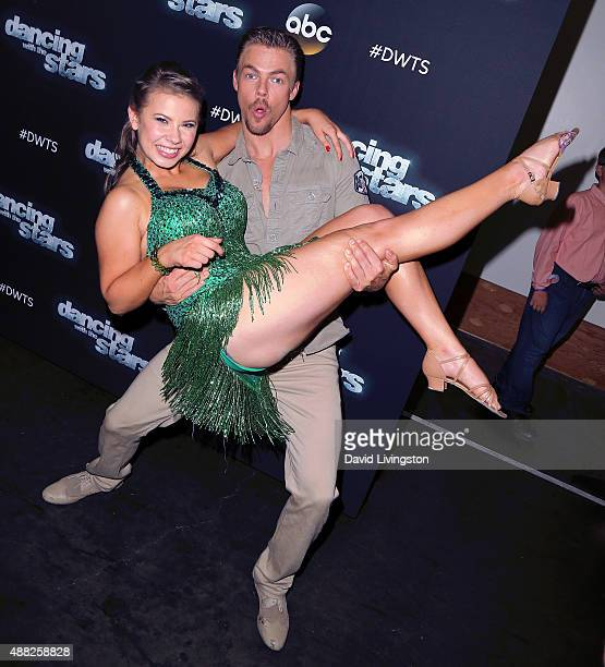 Actress/ wildlife conservationist Bindi Irwin and dancer/TV personality Derek Hough attend ABC's 'Dancing with the Stars' photo op at CBS Studios on...