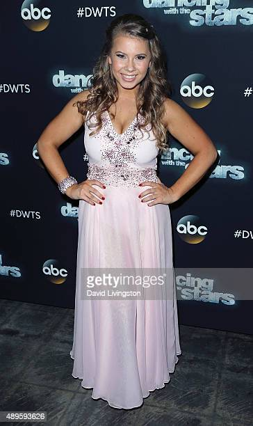 Actress/ wildlife conservationist Bindi Irwin attends 'Dancing with the Stars' Season 21 at CBS Televison City on September 22, 2015 in Los Angeles,...