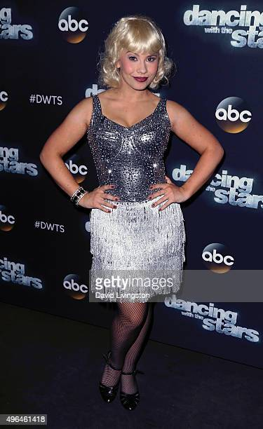 """Actress/ wildlife conservationist Bindi Irwin attends """"Dancing with the Stars"""" Season 21 at CBS Television City on November 9, 2015 in Los Angeles,..."""