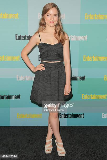 Actress Willa Fitzgerald arrives at the Entertainment Weekly celebration at Float at Hard Rock Hotel San Diego on July 11 2015 in San Diego California