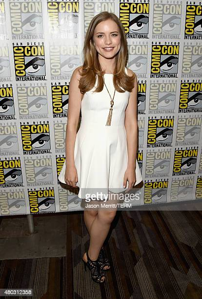 Actress Willa Fitzgerald attends the Scream press room during ComicCon International 2015 at the Hilton Bayfront on July 10 2015 in San Diego...