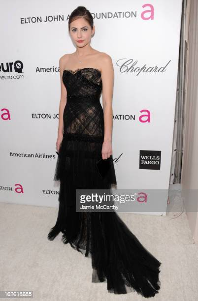 Actress Willa Holland attends the 21st Annual Elton John AIDS Foundation Academy Awards Viewing Party at West Hollywood Park on February 24 2013 in...