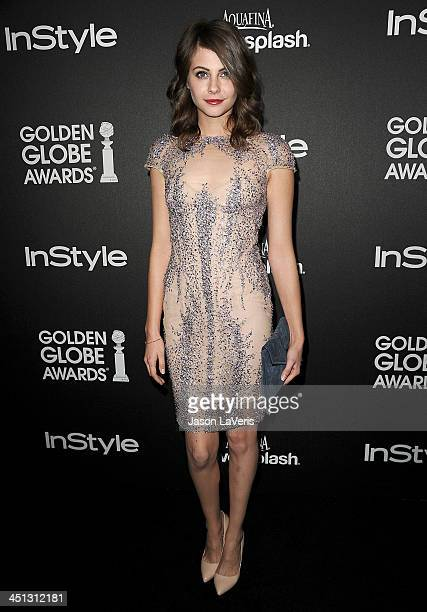 Actress Willa Holland attends the Miss Golden Globe event at Fig Olive Melrose Place on November 21 2013 in West Hollywood California