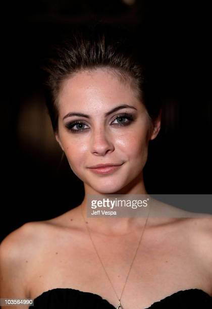 Actress Willa Holland poses during the 7th Annual Teen Vogue Young Hollywood Party held at Milk Studios on September 25, 2009 in Hollywood,...