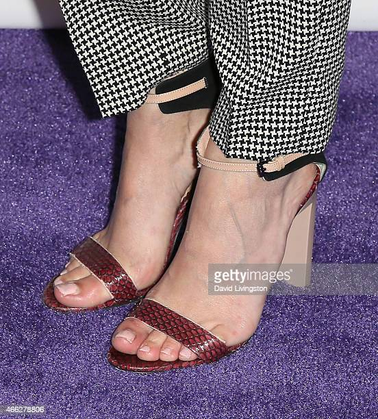 Actress Willa Holland, shoe detail, attends the 'Arrow' & 'The Flash' event at The Paley Center For Media's 32nd Annual PALEYFEST LA at the Dolby...