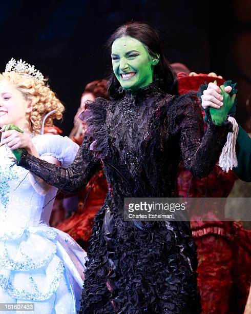 Actress Willemijn Verkaik makes her Broadway debut in Wicked On Broadway at Gershwin Theatre on February 12 2013 in New York City