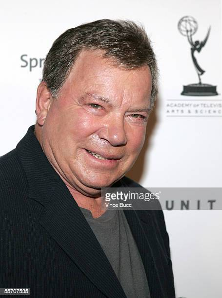 Actress William Shatner attends the Academy of Television Arts and Sciences' reception for Emmy Award nominees for outstanding performing talent at...